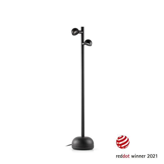 Faro Brot - buiten vloerlamp met kabel en stekker - Ø 16 x 90 cm - 10W LED incl. - IP65 - zwart
