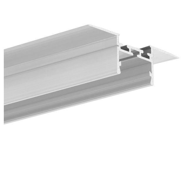 KLUS Giza-ll-t - inbouw LED profiel voor 16mm gipsplaat - 2,6 cm vensterbreedte - 200cm lengte - aluminium
