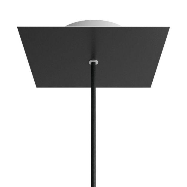 Creative Cables - Rose-One Vierkant plafondrozet voor 1 lichtpunt - Ø 20 x 3,5 cm - zwart