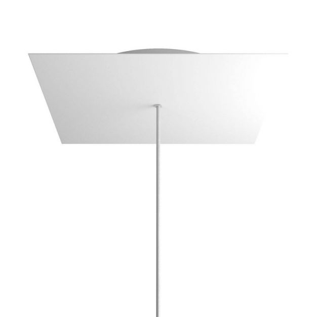 Creative Cables - Rose-One Vierkant plafondrozet voor 1 lichtpunt - Ø 40 x 3,5 cm - wit
