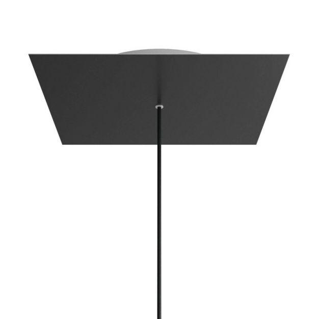 Creative Cables - Rose-One Vierkant plafondrozet voor 1 lichtpunt - Ø 40 x 3,5 cm - zwart