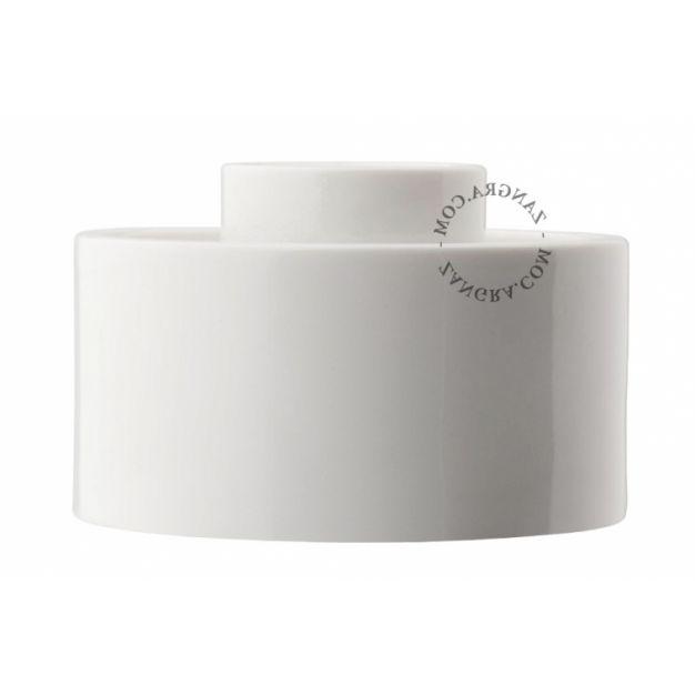 Zangra - wand/plafondverlichting - Ø 10 x 5 cm - IP54 - wit