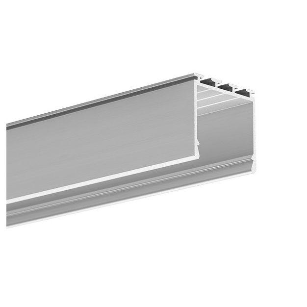 KLUS Lipod - LED profiel - 2,6 x 2,45 cm - 200cm lengte - geanodiseerd zilver