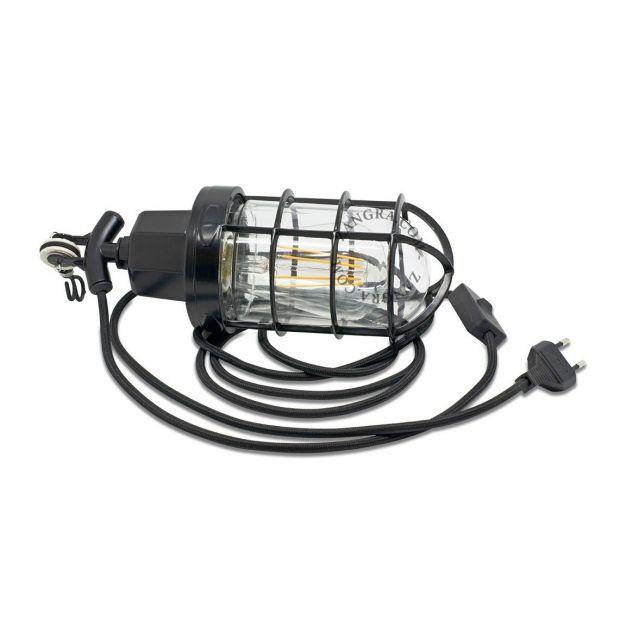 Zangra Dock - looplamp - 32 x 10 cm - zwart
