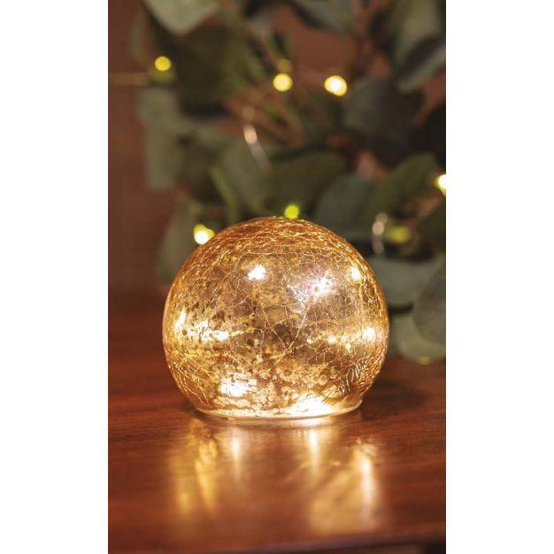 New Garden Lua - decoratieve set lichtballen - 3 stuks - Ø 10 cm - goud