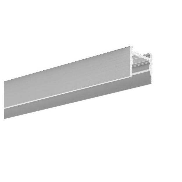 KLUS Micro-HG - LED profiel voor een smallere lichtbundel - 1,6 x 1,5 cm - 200cm lengte - geanodiseerd zilver