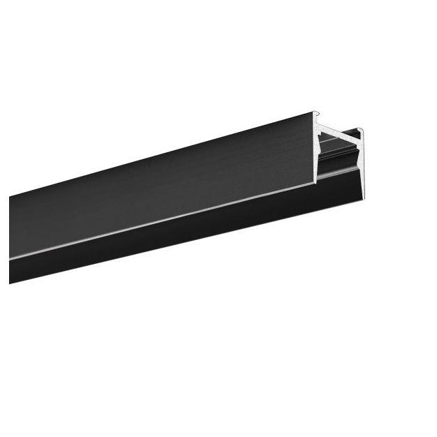 KLUS Micro-HG - LED profiel voor een smallere lichtbundel - 1,6 x 1,5 cm - 200cm lengte - zwart