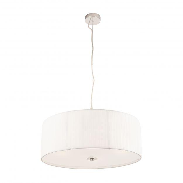 Maxlight Conrad - hanglamp - Ø 50 x 120 cm - chroom en wit