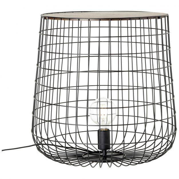 Brilliant Priam - vloerlamp / tafeltje - Ø 50 x 48 cm - hout (op=op!)