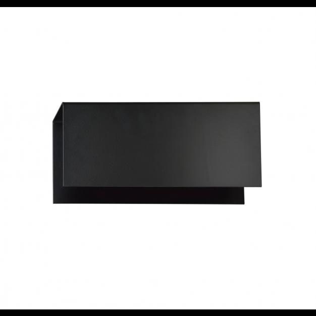 Emibig Tolos - wandverlichting - 24 x 10 cm - zwart