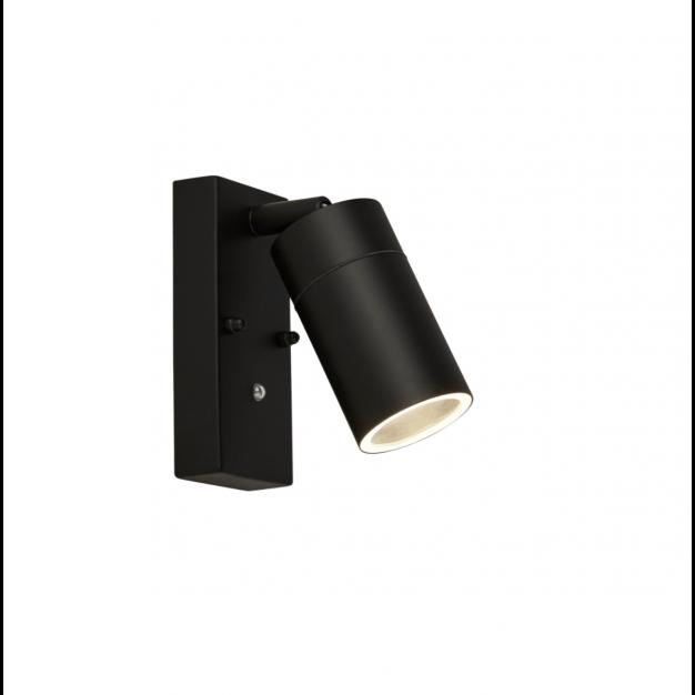 Searchlight LED Outdoor - buiten wandverlichting met schemerschakelaar - 18,5 x 7 x 16,5 cm - IP44 - zwart