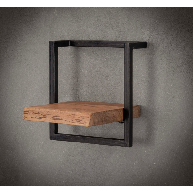 Vico Edge - wandschap - 30 x 25 x 30 cm - acaciahout