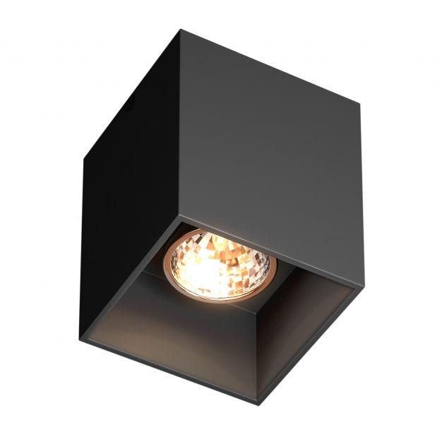 Zuma Line Square - opbouwspot - 8,2 x 8,2 x 9,5 cm - zwart