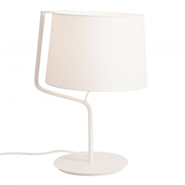 Maxlight Chicago - tafellamp - Ø 32 x 46 cm - wit