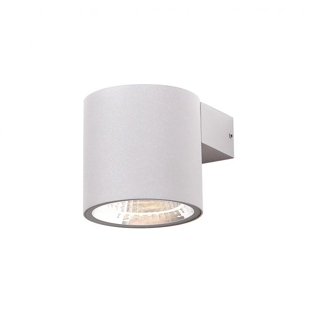 Dobac Libero SU 10W - buiten wandlamp - 9 x 12 x 9 cm - 10W LED incl. - IP65 - grijs