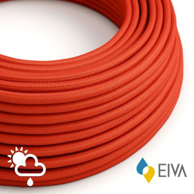 Creative Cables EIVA - textielsnoer - IP65 - per 100 cm - rood
