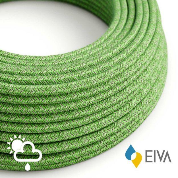 Creative Cables EIVA - textielsnoer - IP65 - per 100 cm - groen