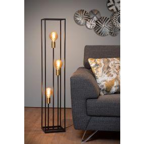 Lucide Ruben - staanlamp - 120 cm - zwart