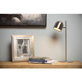 Lucide Skanska - bureaulamp - 46 cm - 5W dimbare LED incl. - mat chroom