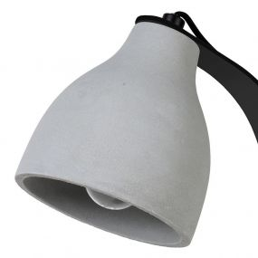 Lucide Ponsoo - bureaulamp - 50 cm - zwart, grijs