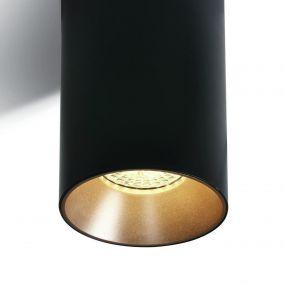 ONE Light Chill Out Cylinder GU10 - opbouwspot 1L - Ø 7,5 x 13,5 cm - zwart