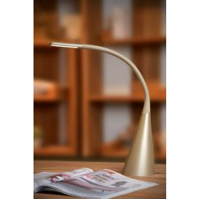 Lucide Goosy - bureaulamp - 50 cm - 4W LED incl. - goud