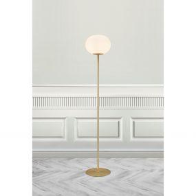 Nordlux Alton - staanlamp - 150 cm - messing en opaal wit