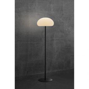 Nordlux Sponge - vloerlamp - oplaadbaar via USB-kabel - Ø 34 x 126 cm - 6,8W dimbare LED incl. - wit en zwart