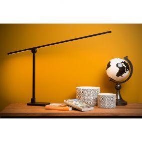 Lucide Agena - bureaulamp met bewegingssensor - 45,5 x 20 x 106 cm - 12W dimbare LED incl. - zwart
