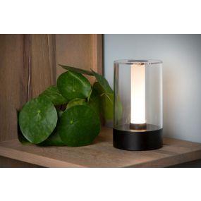 Lucide Tribun - tafellamp - Ø9 cm - 3W dimbare LED - zwart