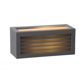 Lucide Dimo - buiten wandverlichting - 25 x 11 x 11 cm - IP54 - zwart
