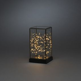 Konstsmide - decoratieve glazen vitrine - 11 x 11 x 20 - zwart