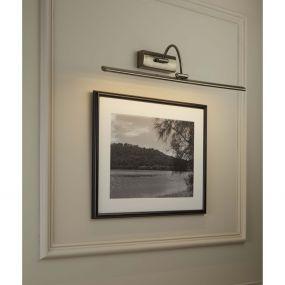 Searchlight LED Picture Lights - wandverlichting met schakelaar - 64 x 11 cm - 5W LED incl. - antiek messing