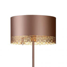 Lucide Ferova - staande lamp - 165 cm, Ø 39,5 cm - kwartsroze