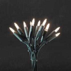 Konstsmide kerstverlichting - Mini LED licht set - 435cm - 20 stuks - donkergroen