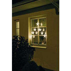 Konstsmide kerstverlichting - decoratieve sterrengordijn - 76,2 x 1,2 x 116 cm - IP44 - transparant