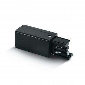 ONE Light Square Track Accessories - live-einde voor track 40003A - links - 16A - zwart