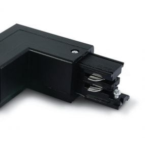 ONE Light Square Track Accessories - hoek voor rail 40003A - rechts - 3-fase railsysteem - 16A - zwart
