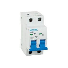 Elmark automaat - 2 polig - 16A - 6kA - karakteristiek B