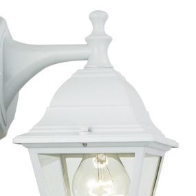 Brilliant Newo III - buiten wandlamp - 15 x 22 x 34 cm - IP23 - wit