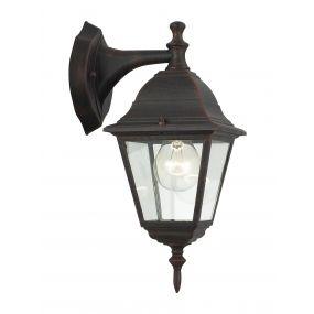Brilliant Newo III - buiten wandlamp - 15 x 22 x 34 cm - IP23 - roest