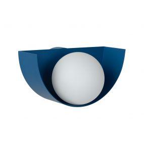 Lucide Benni - wandverlichting - 21 x 12 x 10,5 cm - pastel blauw