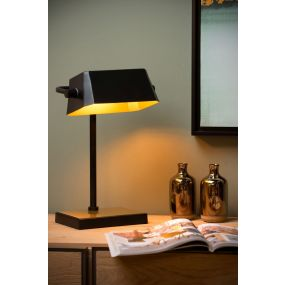 Lucide Lance - Bureaulamp - 18 x 23 x 36 cm - 3 Stappen dimmer - zwart
