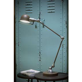 Lucide Honore - bureaulamp - 63 cm - roest bruin