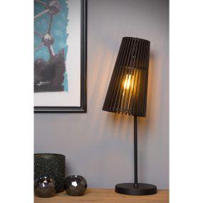 Lucide Noralie - tafellamp - 21 x 16,5 x 56 cm - zwart