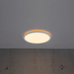 Nordlux Oja - plafondverlichting - Ø 29,4 x 2,3 cm - 18W LED incl. - wit