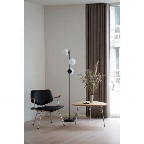 Nordlux Lilly - staanlamp - 150 cm - zwart en opaal wit