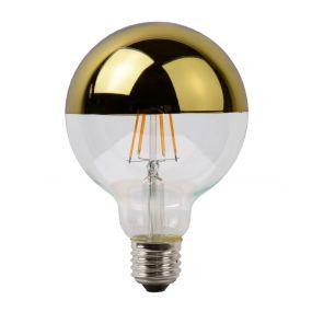 Lucide LED filament lamp met gouden reflector - Ø 9,5 x 12,5 cm - E27 - 5W dimbaar - 2700K
