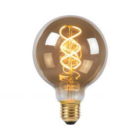 Lucide LED bulb - filament lamp dimbaar - Ø 9 x 14 cm - E27 - 5W - 2200K - gerookt