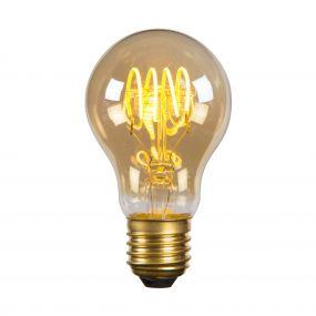 Lucide LED filament lamp - Ø 6 x 10,5 cm - E27 - 5W dimbaar - 2200K - amber